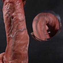 Macio enorme dildo sexo feminino masturbador pênis realista falso pau líquido copo de sucção de silicone grandes vibradores para mulheres adulto brinquedos sexuais