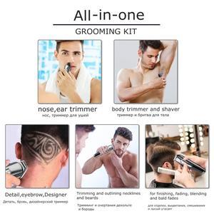 Image 3 - Multifunções barbeador elétrico facial para homens molhado seco máquina de barbear corpo barbeador cabelo recarregável elétrica navalha barba grooming