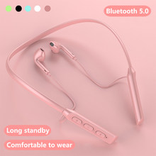 Bluetooth5.0 sem fio fones de ouvido esportes magnéticos correndo fone esporte à prova dwaterproof água redução ruído para todo o telefone
