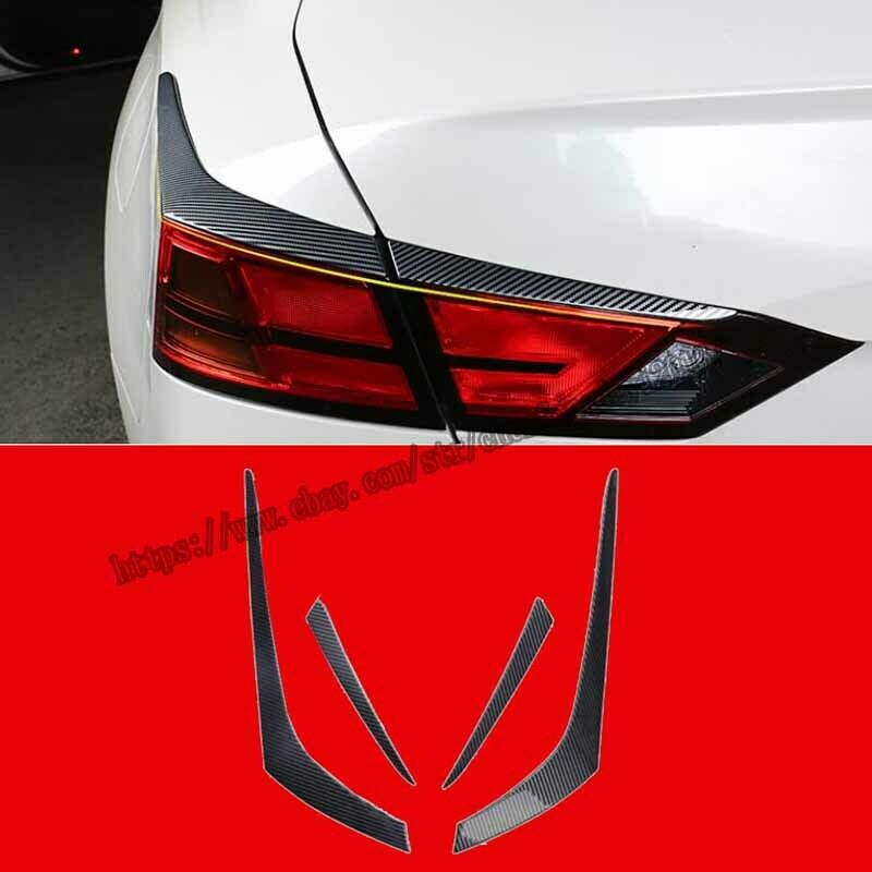 Carbon Fiber Rear Tail Light Eyebrow Cover Trim Fit For Nissan Teana Altima 2019