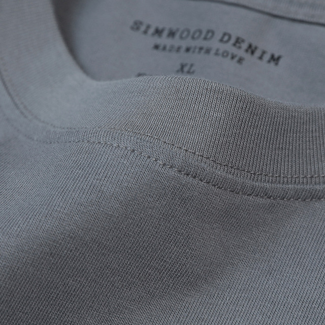 SIMWOOD 2021 Summer New 250g 100% Cotton Fabric T-shirt Men High Quality Solid Color Drop Sleeve Loose Tshirts Oversize Tops 5