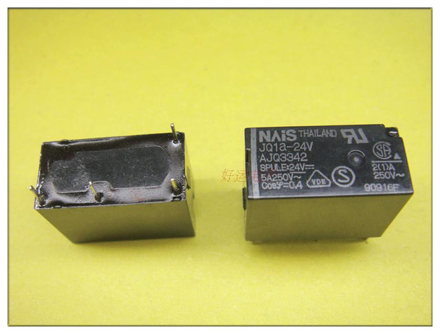 Gratis Verzending Lot (10 Stuks/partij) 100% Originele Nieuwe JQ1A 24V F AJQ3342F JQ1A 24V AJQ3342 5A250V 4Pins 24VDC DC24V 24V Power Relais