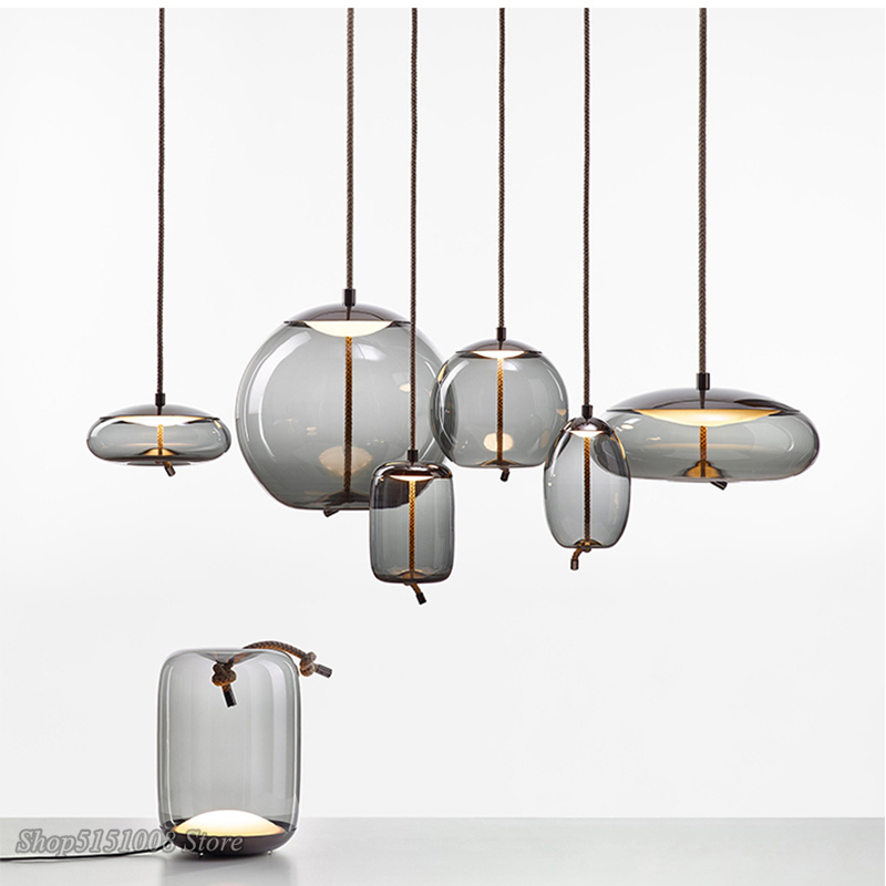 Lampe suspendue en verre au Design nordique BROKIS, scandinave, Design nordique, Luminaire décoratif dintérieur, idéal pour une cuisine