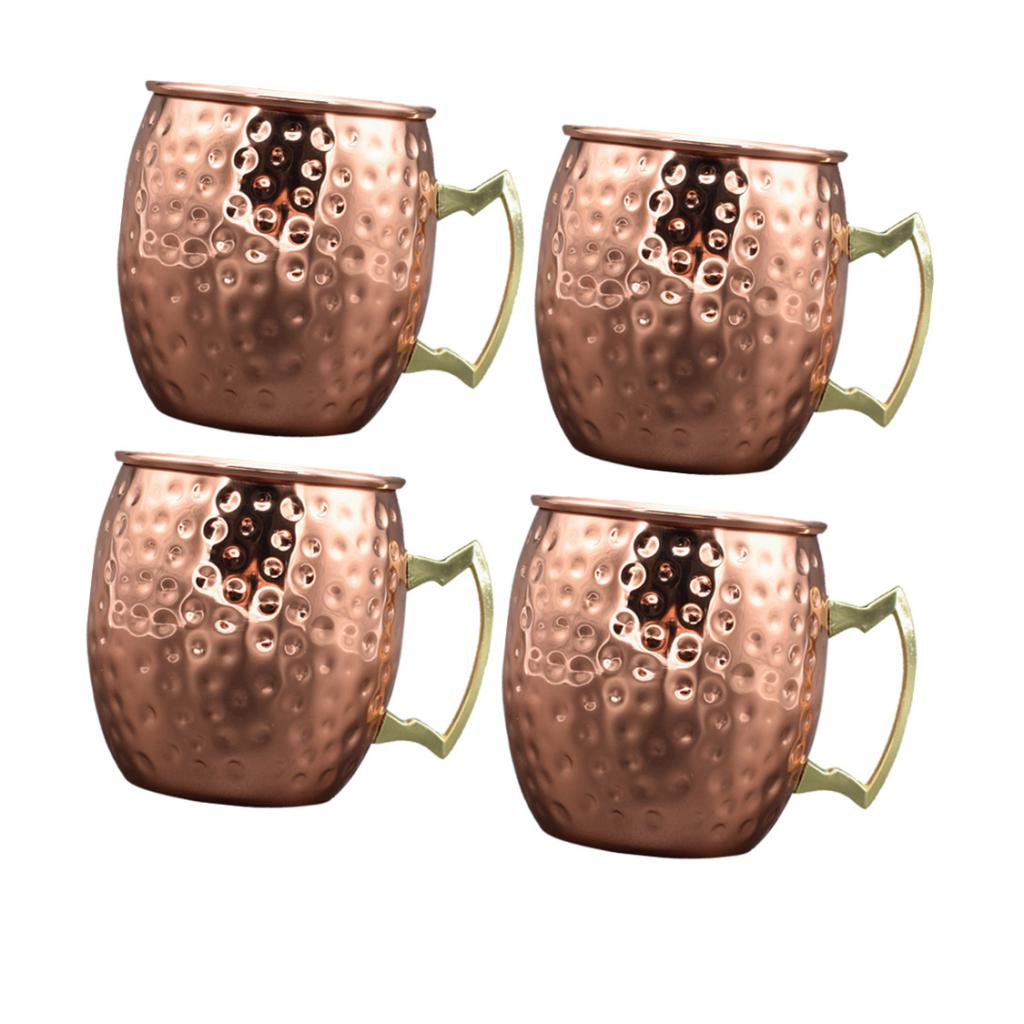4pcs Moscow Mule Cocktail Mug/Cup Bar Vodka Cocktails Beer Cups Barware Gift image