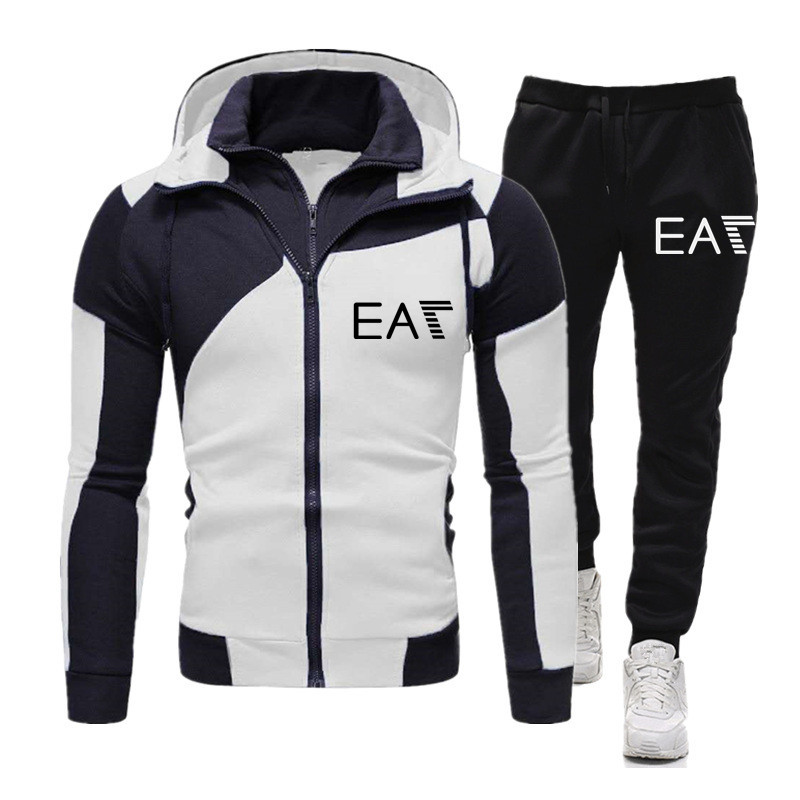 New 2 pieces / set of men's sportswear sports compression sportswear clothes running jogging sports pants exercise training set