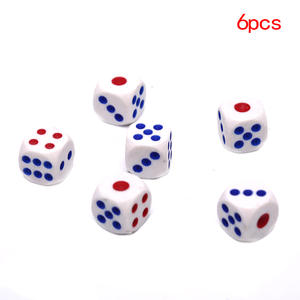 Playing-Games Dice-Set Drinking-Dice Round-Corner White 10mm RPG Acrylic 6pcs/Lot Club