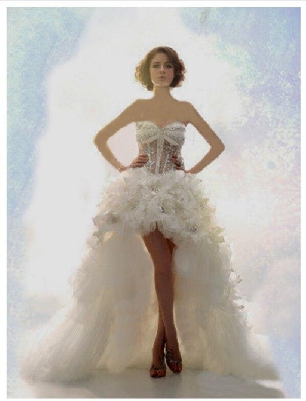 Free Shipping Casamento Sweetheart Crystal Feathers Vestido De Noiva 2016 New Fashion Romantic Sexy Wedding Dress Bridal Gown