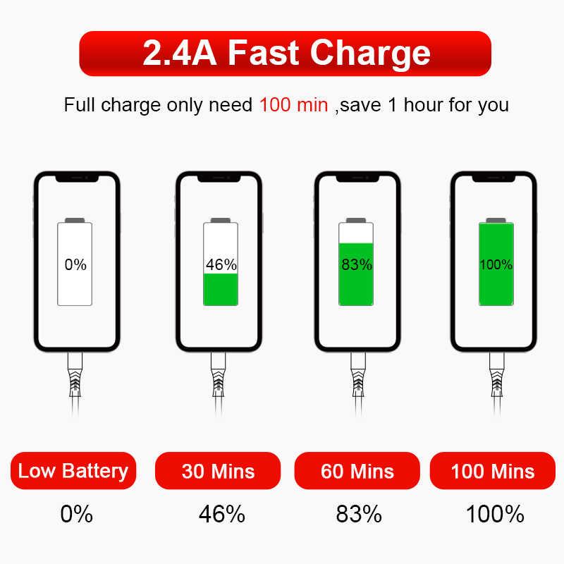 Coolreall Cavo USB per il iPhone 11 pro max Xr X 8 7 6 plus 6s 5 s plus iPad 2.4A Veloce Cavo di Carico del cavo di Dati Del Telefono Mobile Cavo