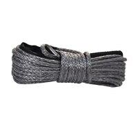 Cinza 6mm * 15m corda sintética do guincho  linha do guincho atv  guincho do barco corda 6mm  cabo do guincho atv  plasma corda