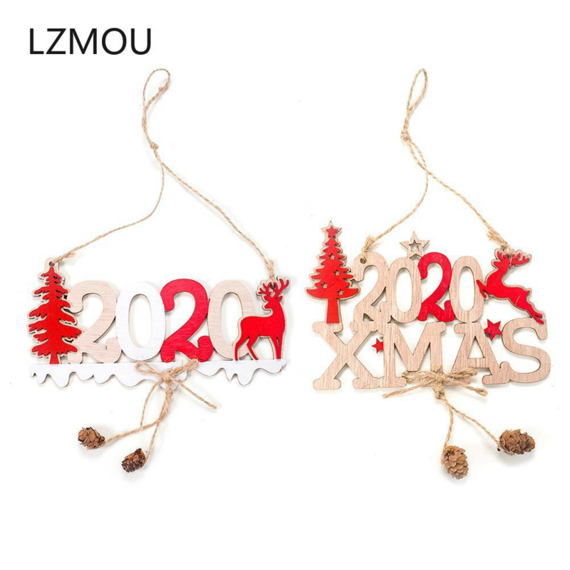 Noel Christmas.Us 0 78 45 Off Latest New Year 2020 Xmas Wooden Pendant Noel Christmas Decoration For Home 3d Wood Craft Christmas Tree Ornament Deco Xmas Gift In