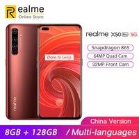Original Realme X50 Pro 5G Smartphone Snapdragon 865 8GB 128GB Mobile Phone 6.44'' 2400×1080 90Hz 64MP Android 10 65W SuperVOOC