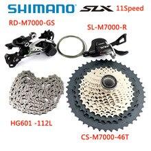 Shimano groupset m5100 slx m7000, novo groupset de 2020, 1x11 velocidades, mountain bike, contém alavanca de câmbio, correia de desviador traseiro 11 s