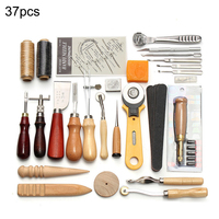 37PCS Leather Craft Tool Leather Sewing Tools Kit Leather DIY Hand Stitching Tools for Sewing Leather Canvas