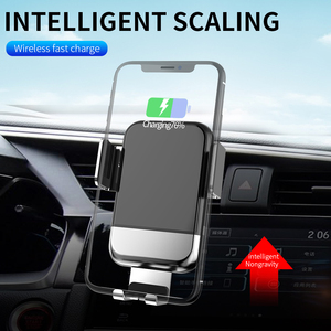 Image 1 - AQO Car Phone Holder Wireless Charger Automatic Inductive Phone Car Holder For iphone xiaomi huawei Samsung Mobile Stand EDZ 03