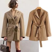 england vintage boyfriend oversize sashes blazer feminino blazer women blazer mujer 2019 women blazers and jackets tops