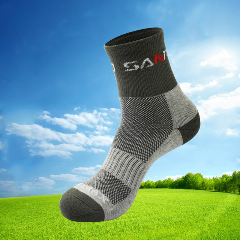 High Quality Quick Drying Men Coolmax Socks Outdoor Sports Hiking Camping Cycling Socks Half Thick Running Socks Thermosocks