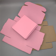 T-Shirt Underwear Mailer-Box Corrugated 15--15--5cm Socks Packaging Square Pink 10pcs