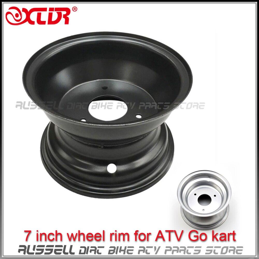 ATV 7 Rim 3 Holes for Tire 16x8 7 Quad Wheel black silver