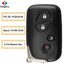 KEYECUสมาร์ทรีโมทคอนโทรลรถ 314.3MHz 315.2MHz 433.92MHz 312.2MHz FOBสำหรับLexus FCCผลิตภัณฑ์: HYQ14AAB Board ID 271451 0140