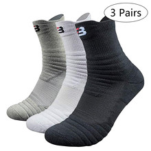 Professionelle Basketball Sport Socken Neue velonoski Winter Dicke Outdoor Sport Fitness Compression Socke Chaussette Homme Sport(China)