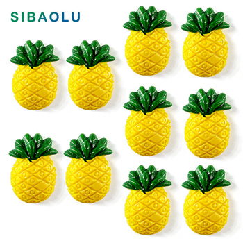 10pcs Pineapple Fridge magnet cartoon Model whiteboard Stickers Resin Refrigerator Magnets Home DIY Decoration Accessories 1