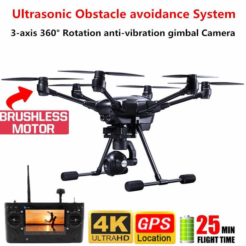 Typhon H-480 GPS Drone 4K HD caméra hélicoptère RTF 3 axes 360 ° Rotation cardan ultrasons évitement d'obstacles Drone professionnel