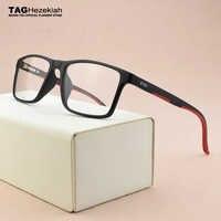 2019 TAG Brand TR90 glasses frame men myopia computer spectacle frames women Ultra light square eye glasses frames for men TH502