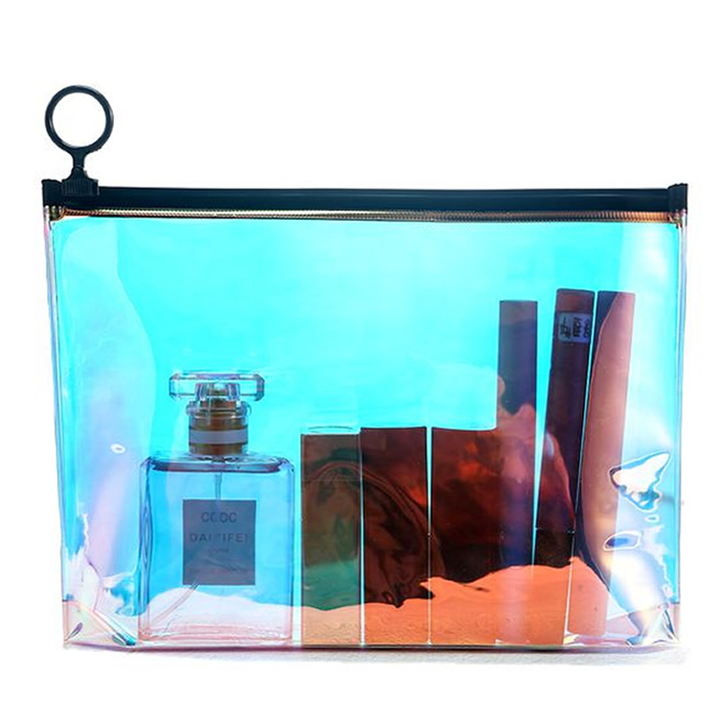 Travel Transparent Cosmetic Bag Fashion Paillette Zipper Make Up Case Organizer Storage Makeup Toiletry Beauty Wash Kit Bath Bag