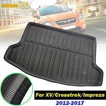 Forro de maletero trasero para coche, alfombrilla para maletero, bandeja para suelo de carga, alfombra para Subaru XV Crosstrek Impreza Hatchback Hatch 2009-2016