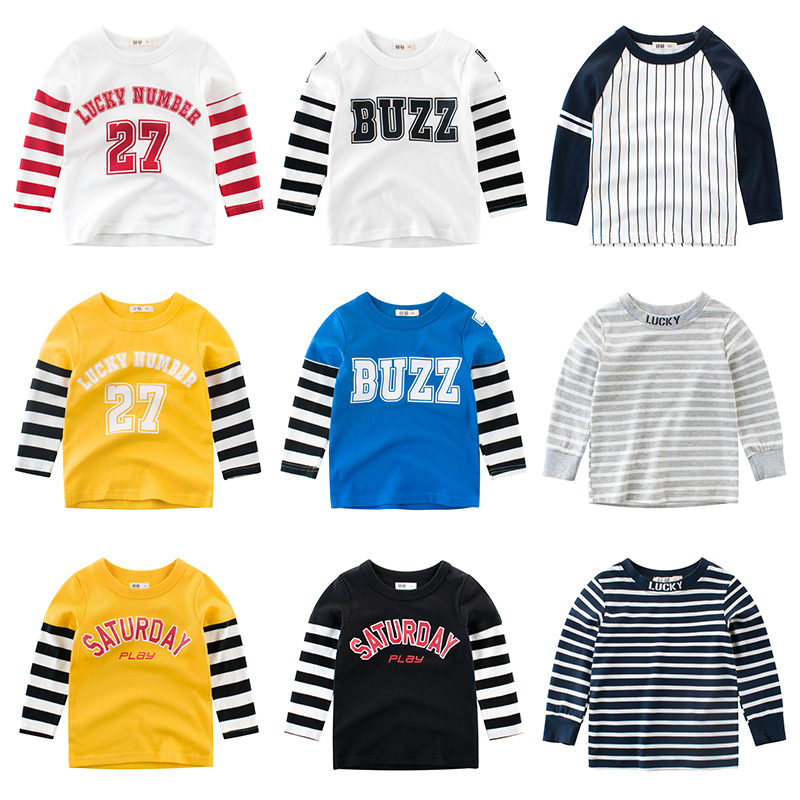 Tees T Shirt Boys Clothing Kids Girls Baby Tops Cotton Outwear The Letter Long Sleeves Children Clothes Toddler Infant Tee