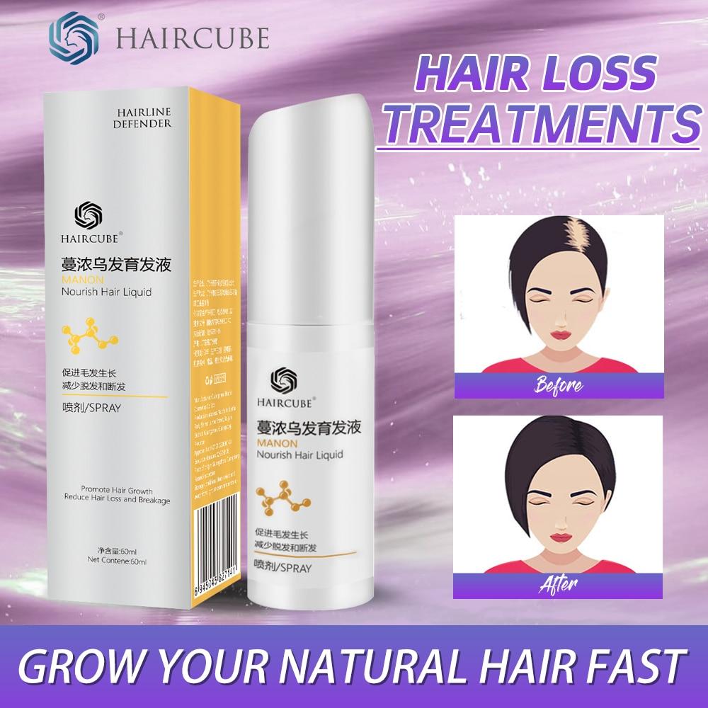 HAIRCUBE Anti Hair Loss Spray for Fast Hair Growth Products Men Woman Hair Growth Essential Oil Liquid Essence Regeneration