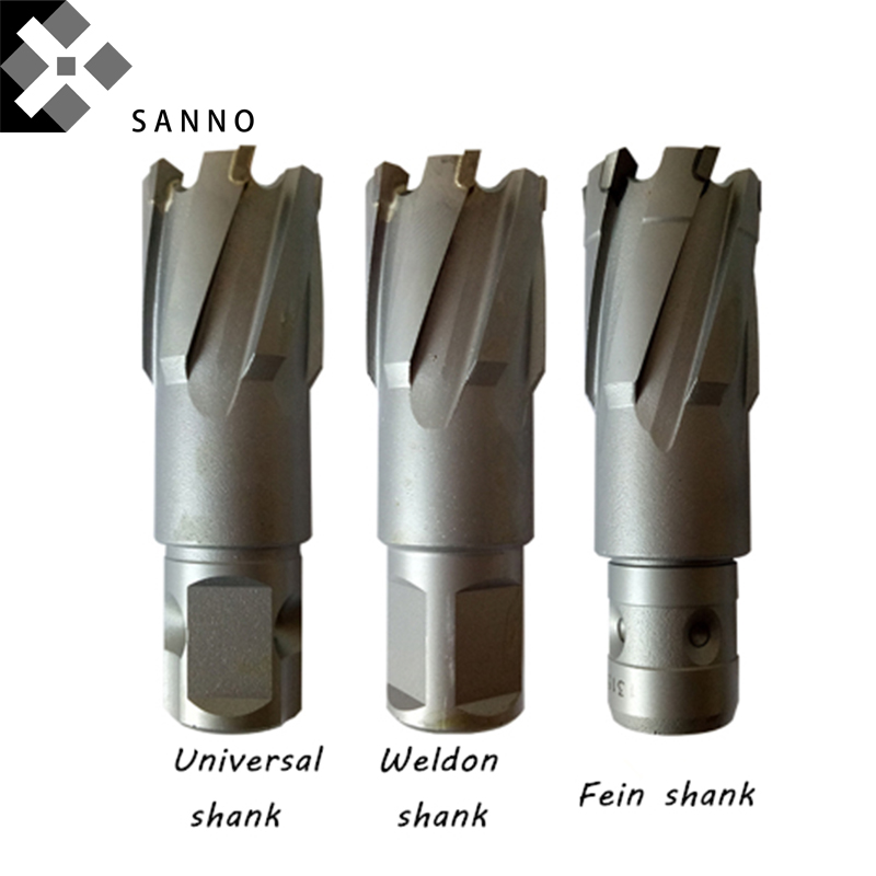 High Quality Tipped TCT Annular Cutter Tool With Universal / Weldon / Fein Shank D12 X H35 / D23 X H35 / D39 X H35 Core Drills