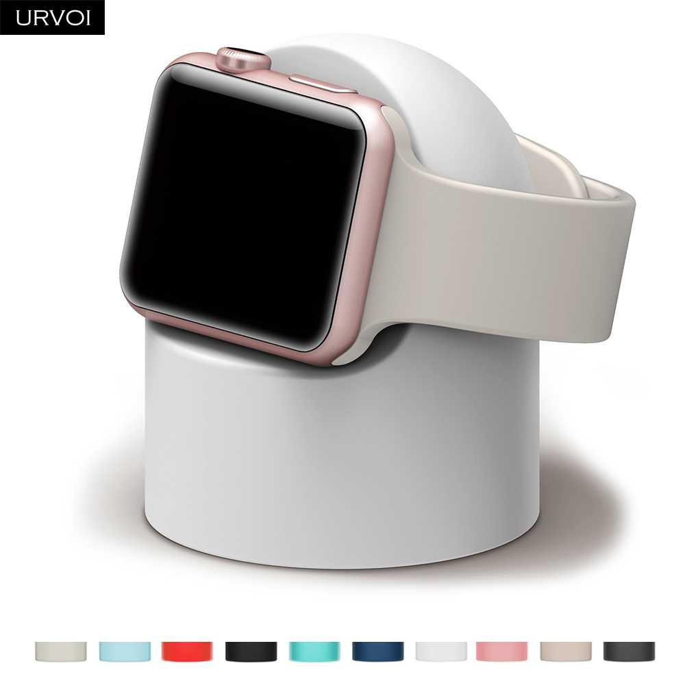 URVOI-support pour apple watch séries 54321, gardien de nuit, silicone, station de recharge à la maison, pour iWatch, design moderne