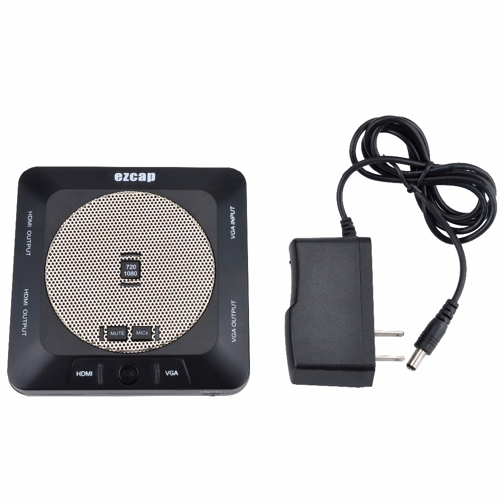 EZCAP289 New 1080P HD Video Lessons Lecture Capture/Recorder Card  HDMI/VGA Input Output Video Conference Recorder Built in Mic 6