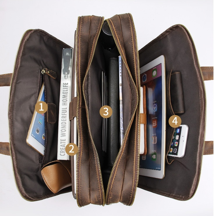 H17724ae0af7a41e8af2495b2bd74c4c60 MAHEU Vintage Leather Mens Briefcase With Pockets Cowhide Bag On Business Suitcase Crazy Horse Leather Laptop Bags 2019 Design