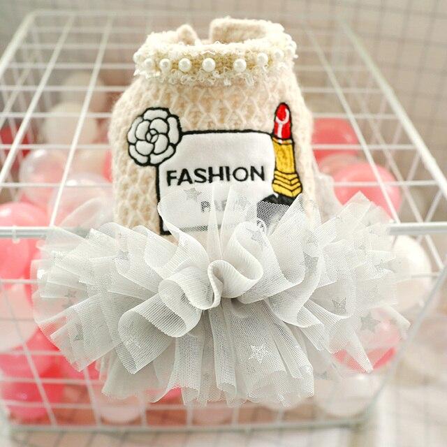 جديد فساتين الأميرة الصغيرة الكلب معطف الخريف القط تنورة الملابس توتو فستان للكلاب جرو تيدي تشيهواهوا XS S M L XL