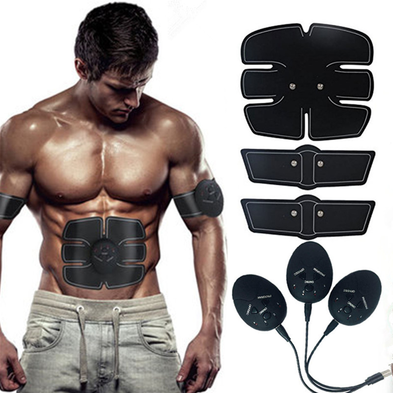 Rechargeable ABS Abdominal Muscle Stimulator EMS Massager Leg Arm Abdominal Muscle Trainer Exerciser Device For Home Gym Gear