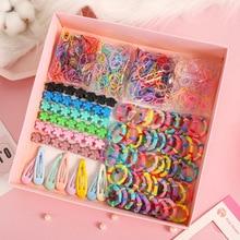Girls Scrunchies Hair-Clip Elastic Floral Candy-Color 870/10pcs