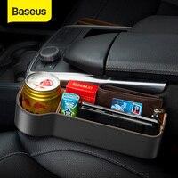 Baseus Universal Leather Car Organizer Auto Seat Gap Storage Box For Pocket Organizer Wallet Cigarette Keys Phone Holders
