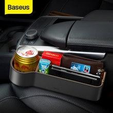 Baseus uniwersalny skórzany organizator samochodu fotel samochodowy pudełko do przechowywania w szczelinie obok fotela na Organizer kieszeniowy portfel papieros klucze uchwyty do telefonów