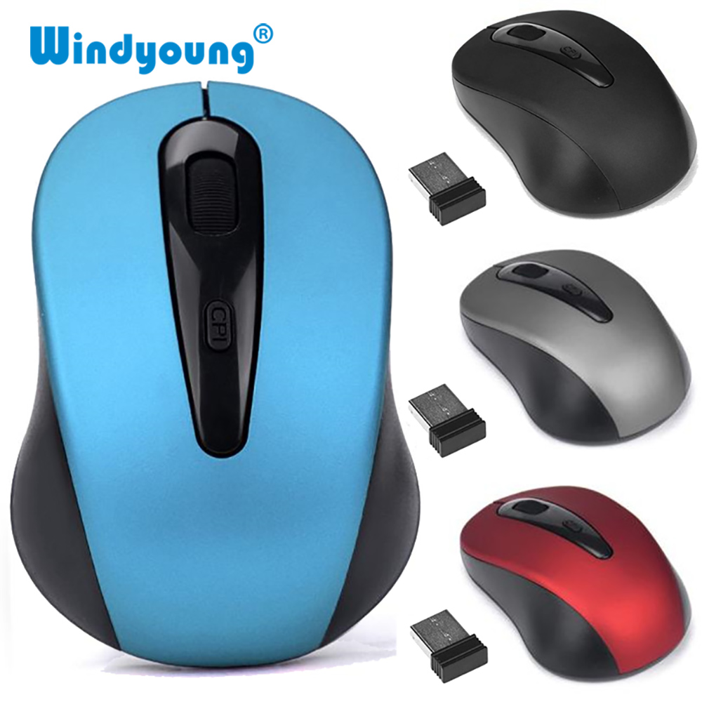 Universal 2.4GHz Wireless Mouse 1600DPI Optical Professional Cordless Office Mice With USB Receiver Scroll For Laptop Computer