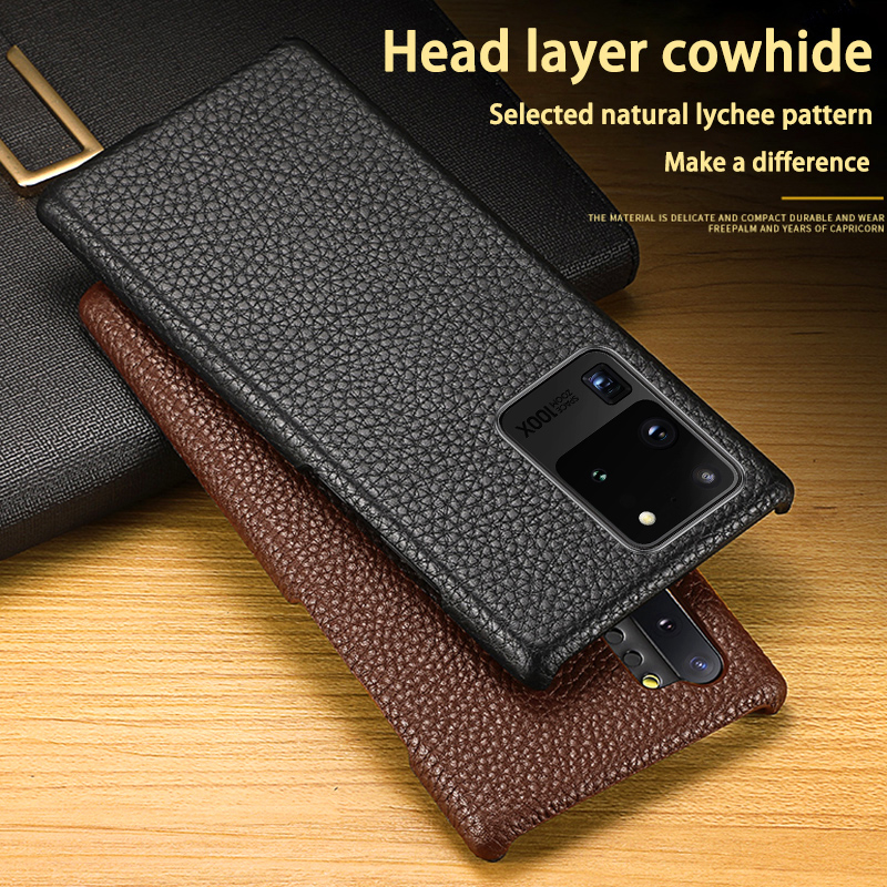 Leather Phone Case For Samsung S20 Ultra S10 Lite S10e S9 S8 S7 Note 8 9 10 Plus A10 A20 A30 A40 A50 A70 A51 A71 Litchi Texture image