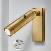 adjustable led book light bedside reading book lamp aluminum body 100 240v cree chip indoor led lampada home loft nightlights