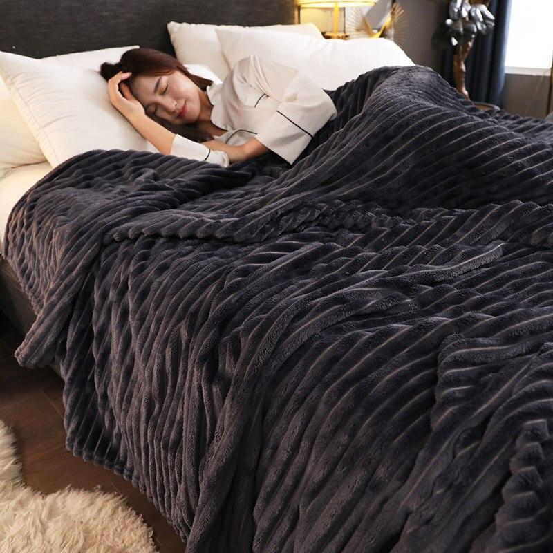 Дружественное к коже Коралловое бархатное одеяло для дивана, кровати многоцелевой домашний офис сон в путешествиях мягкое теплое одеяло Всесезонная Крышка Одеяло