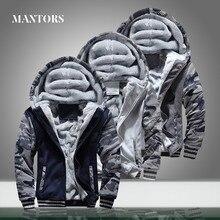 Mannen Camouflage Jassen Hooded Fleece Warme Dikke Mens Casual Jassen Uitloper Winter Merk Mannelijke Rits Militaire Hoodies Trainingspak