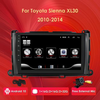 Android10 Quad Core 9inch Car autoradio multimedia fit toyota Sienna XL30 2010-2014 navigation car stereo GPS head unit image