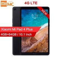 Оригинальный планшет Xiaomi Mi Pad 4 Plus с 10,1 дюймовым дисплеем, восьмиядерным процессором Snapdragon 660, 13 МП + 5 МП, 8620 мАч, 4G, Android MiPad 4