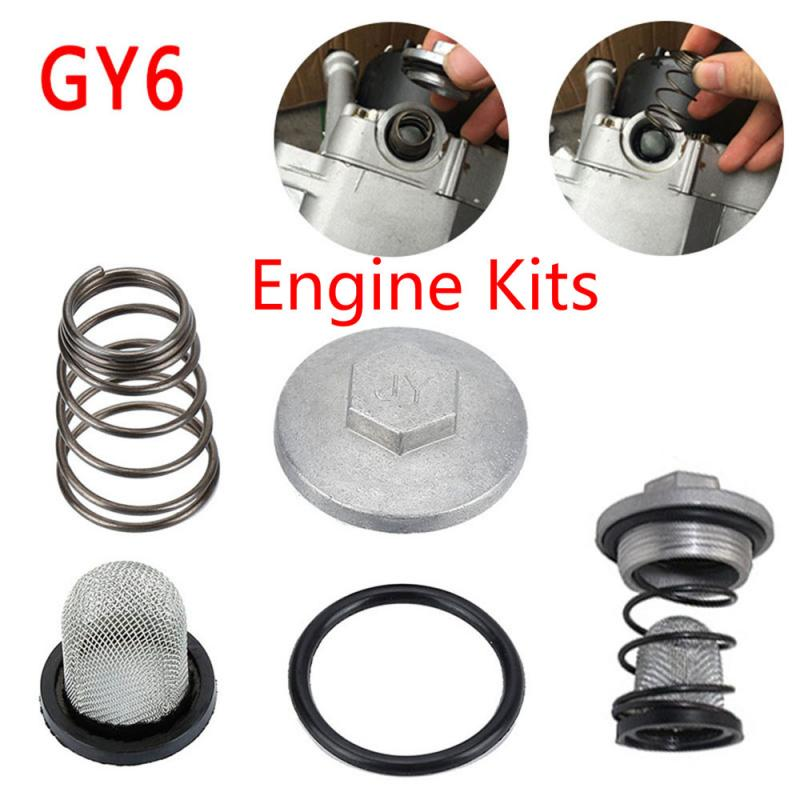 Nova alta qualidade gy6 50cc para 150cc 125/150 peças de motor plug ciclomotor filtro óleo dreno minimoto parafuso scooter para baotian benzhou