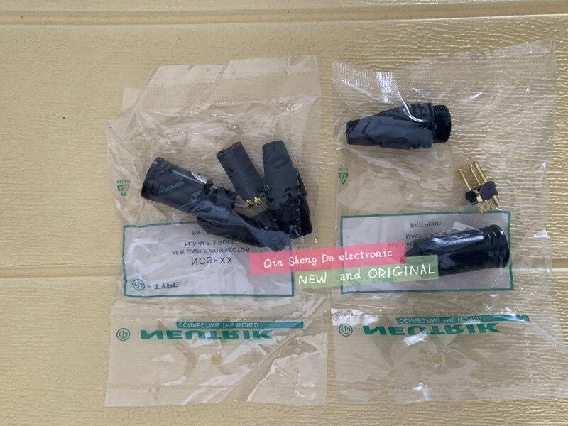 Alta quality10pces/lote 5 pces nc3mxx & 5 pces nc3fxx para neutrik macho e fêmea um conjunto de 3 pinos xlr conector withe