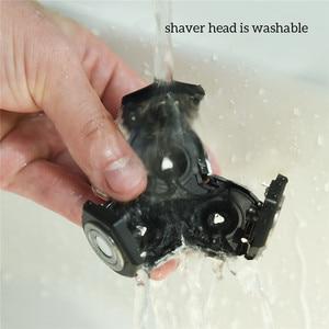 Image 4 - Электрическая бритва с быстрой зарядкой для всего тела, водонепроницаемая электробритва для влажной сушки, мощная бритвенная машина двойного назначения для мужчин, триммер для бороды 31